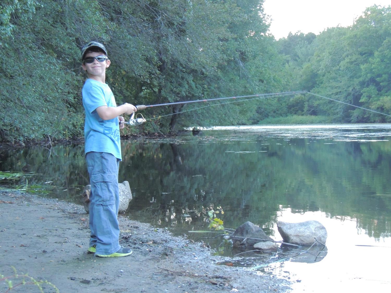 andrew at upper dam pond