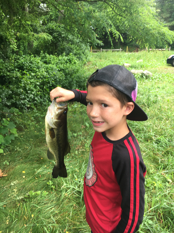 Aidan Kelley catching fish