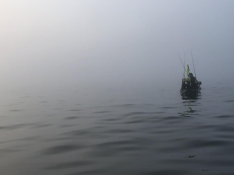 fish wrap writer fog kayak fishing