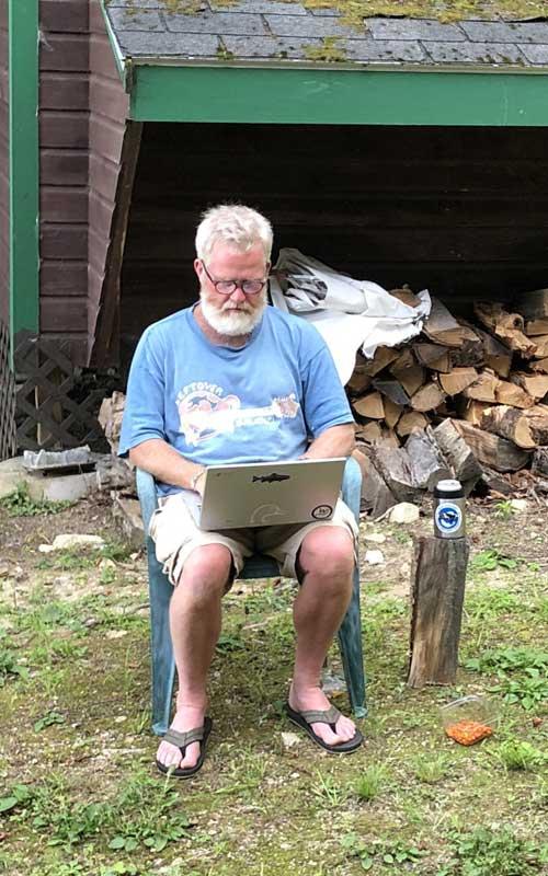 Todd Corayer, the fish wrap writer
