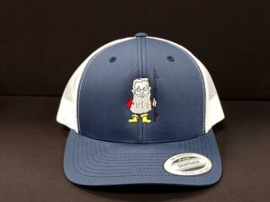 Fish Wrap Gift List Navy Trucker Hat